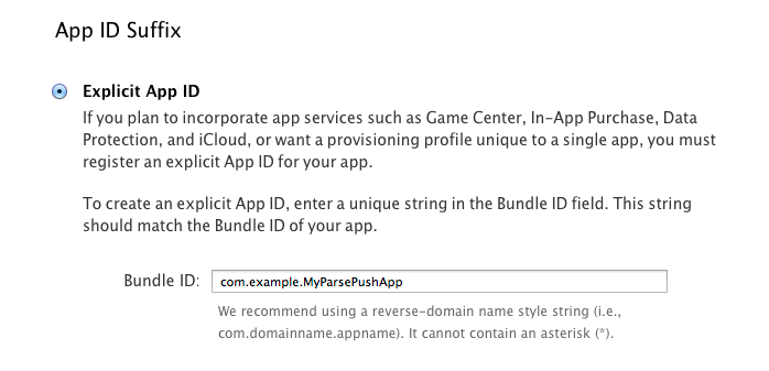 Explicit App ID
