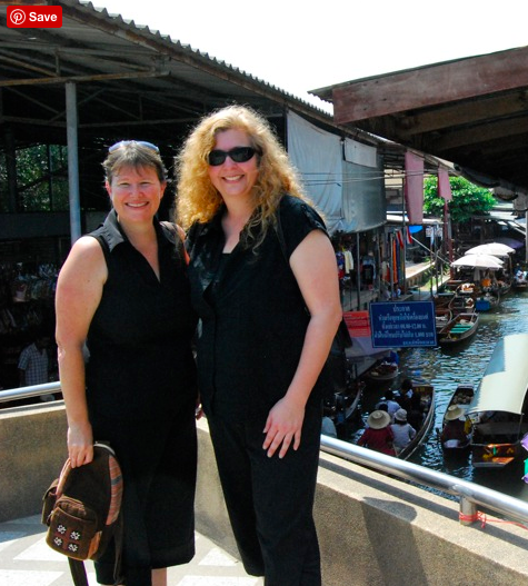 Silvia and I at the floating market