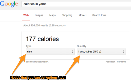 Calories in Yams