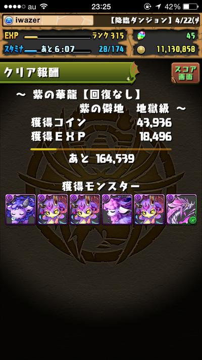 紫の華龍クリア
