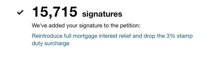Petition signature