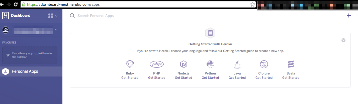 This is the interface with the Heroku app